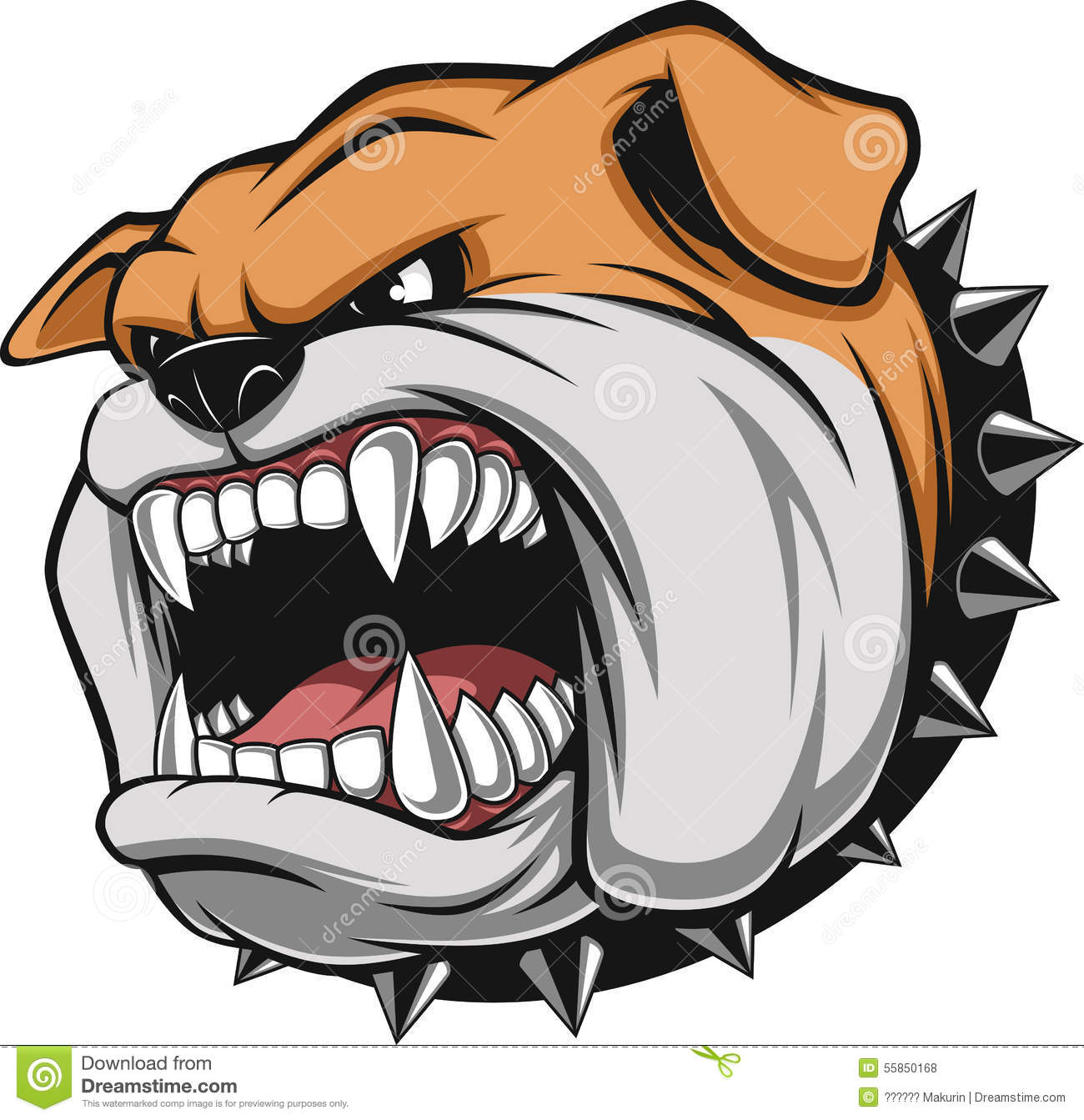 Angry dog stock vector. Image of breed, angry, fierce ... Angry Dog Drawing