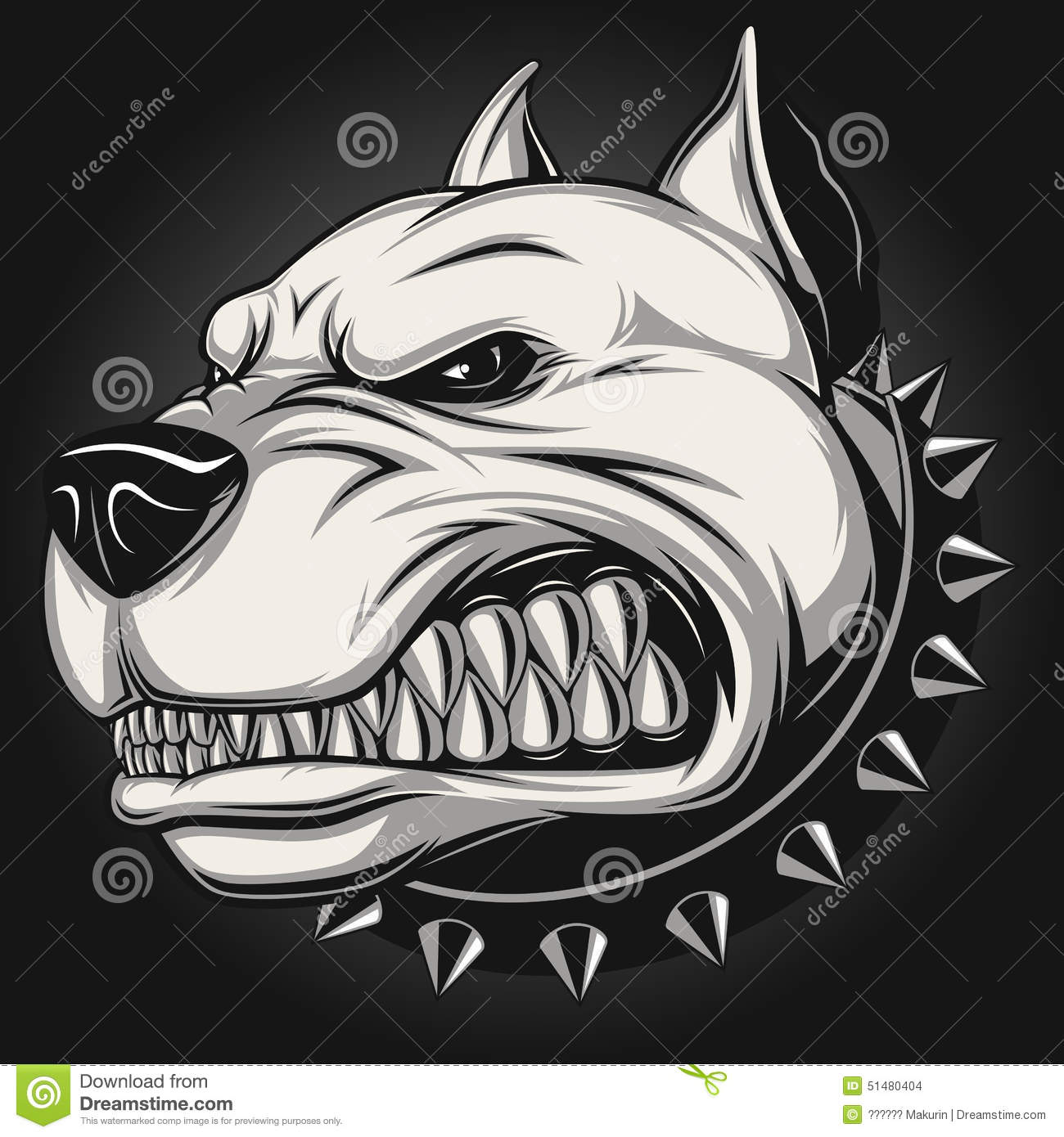Angry Dog Stock Vector...