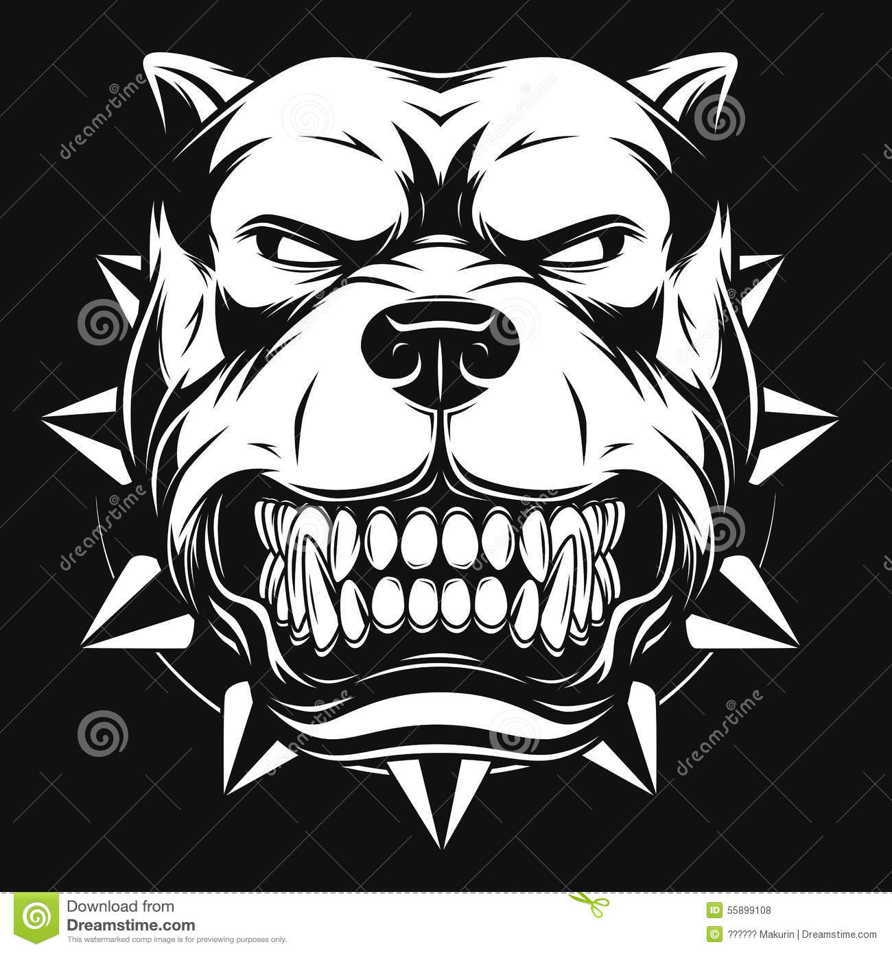 Angry Dog Stock Vector