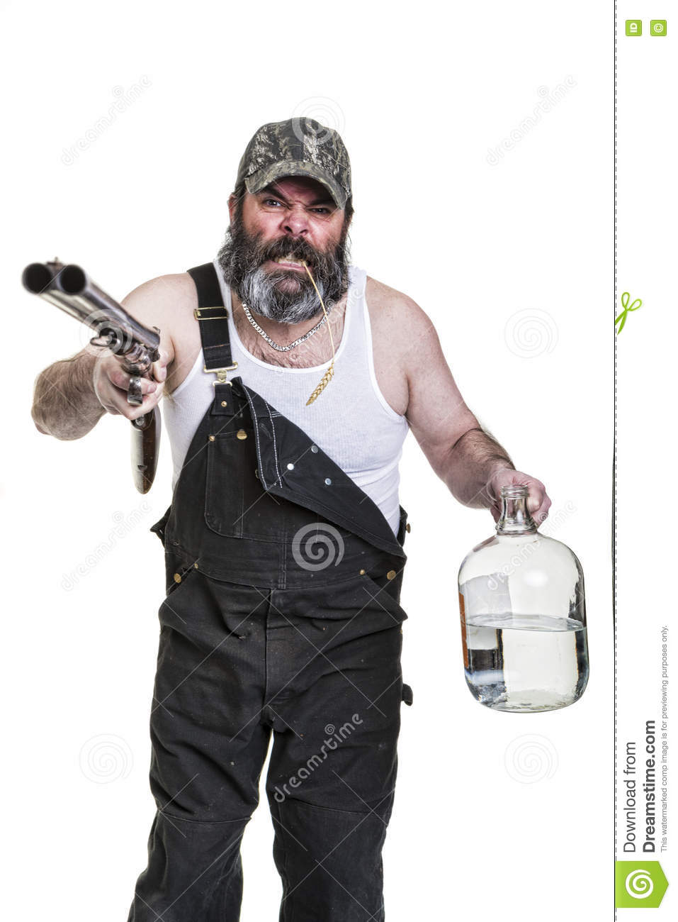 Angry Drinking Redneck stock image. Image of double, expression - 73201713
