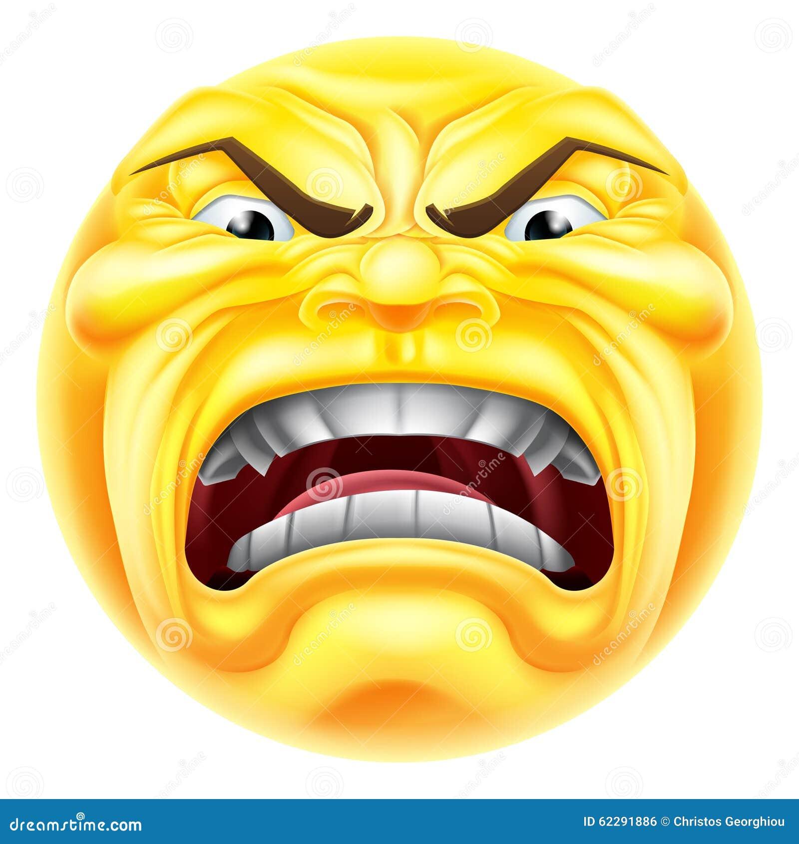 angry emoji emoticon stock vector image of emotion head