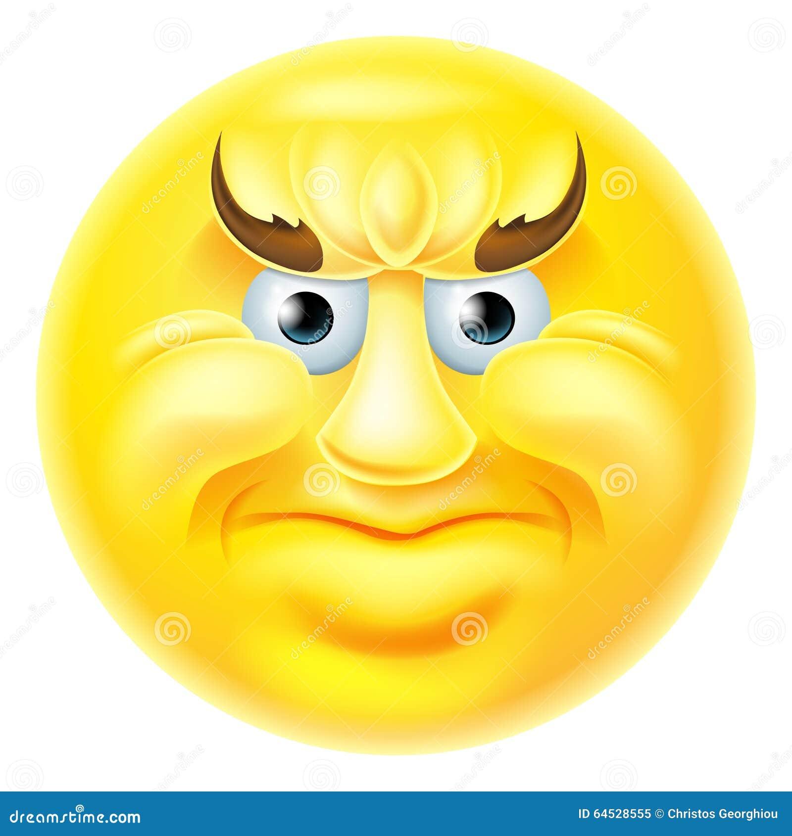 angry emoji emoticon man stock vector image 64528555 Snowman Emoji Merry Christmas Santa Claus
