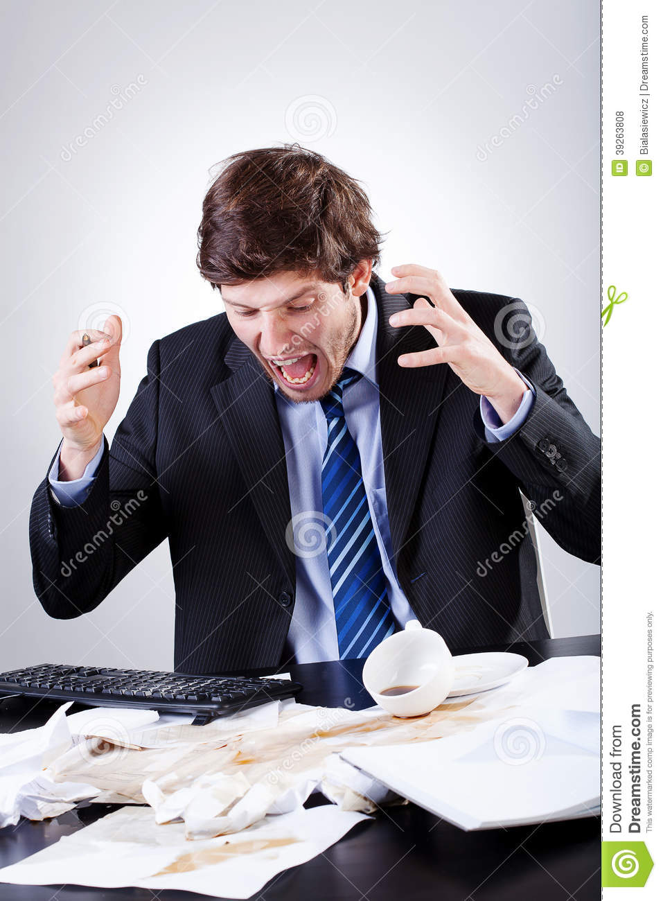 Angry employee stock photo. Image of expression, listen ...