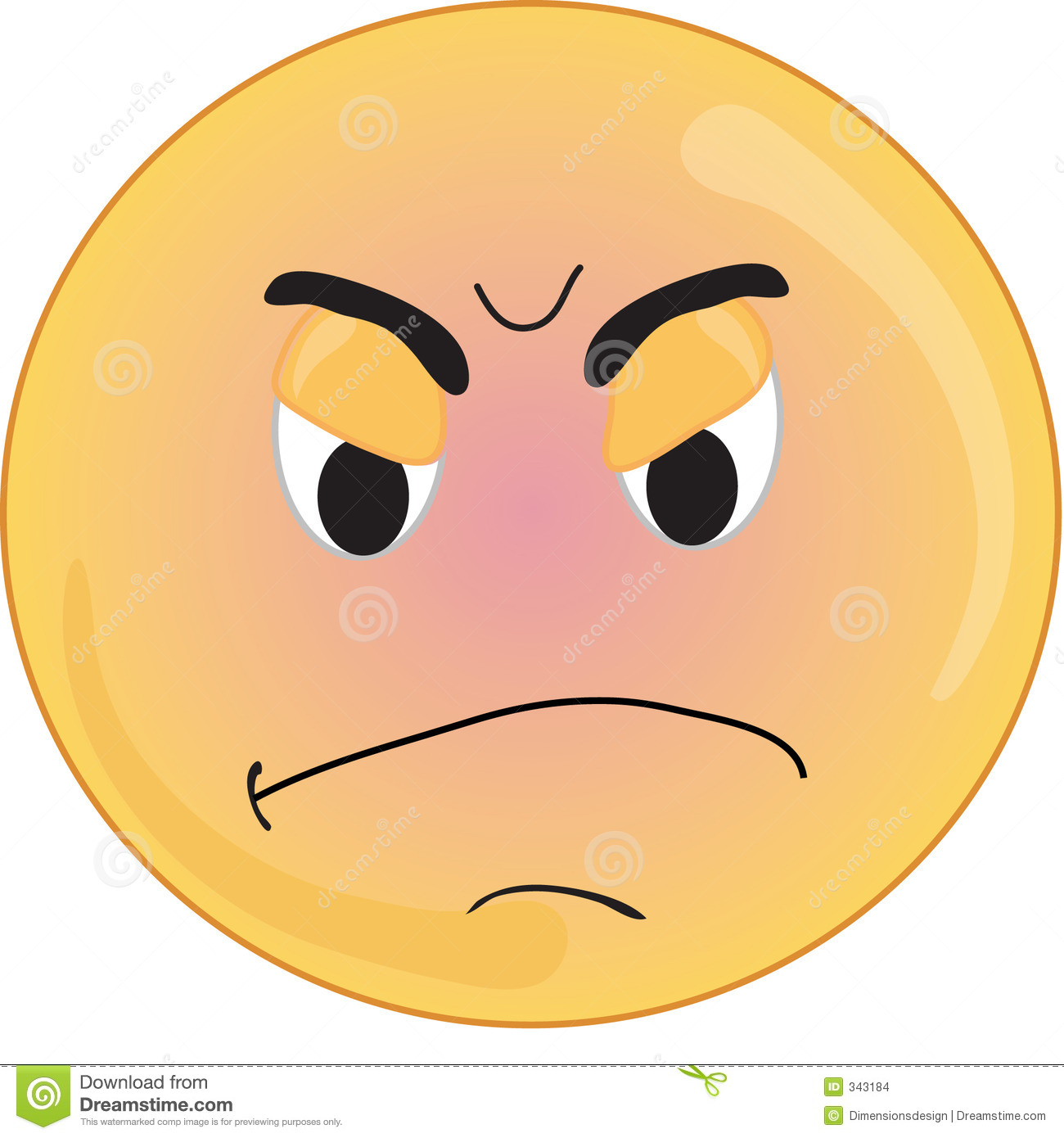 smiley type angry face mr no pr no 4 79941 24