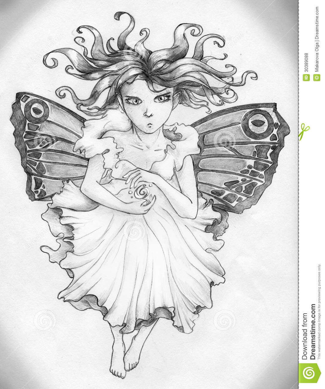 Angry Fairy Girl Royalty Free Stock Photos