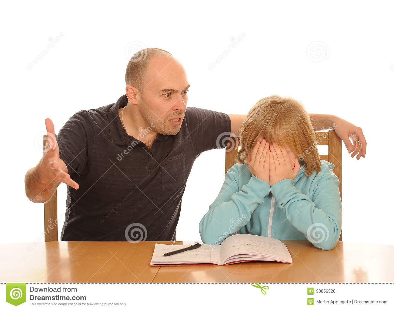 Father angry with daughter stock photo. Image of covering - 30056320