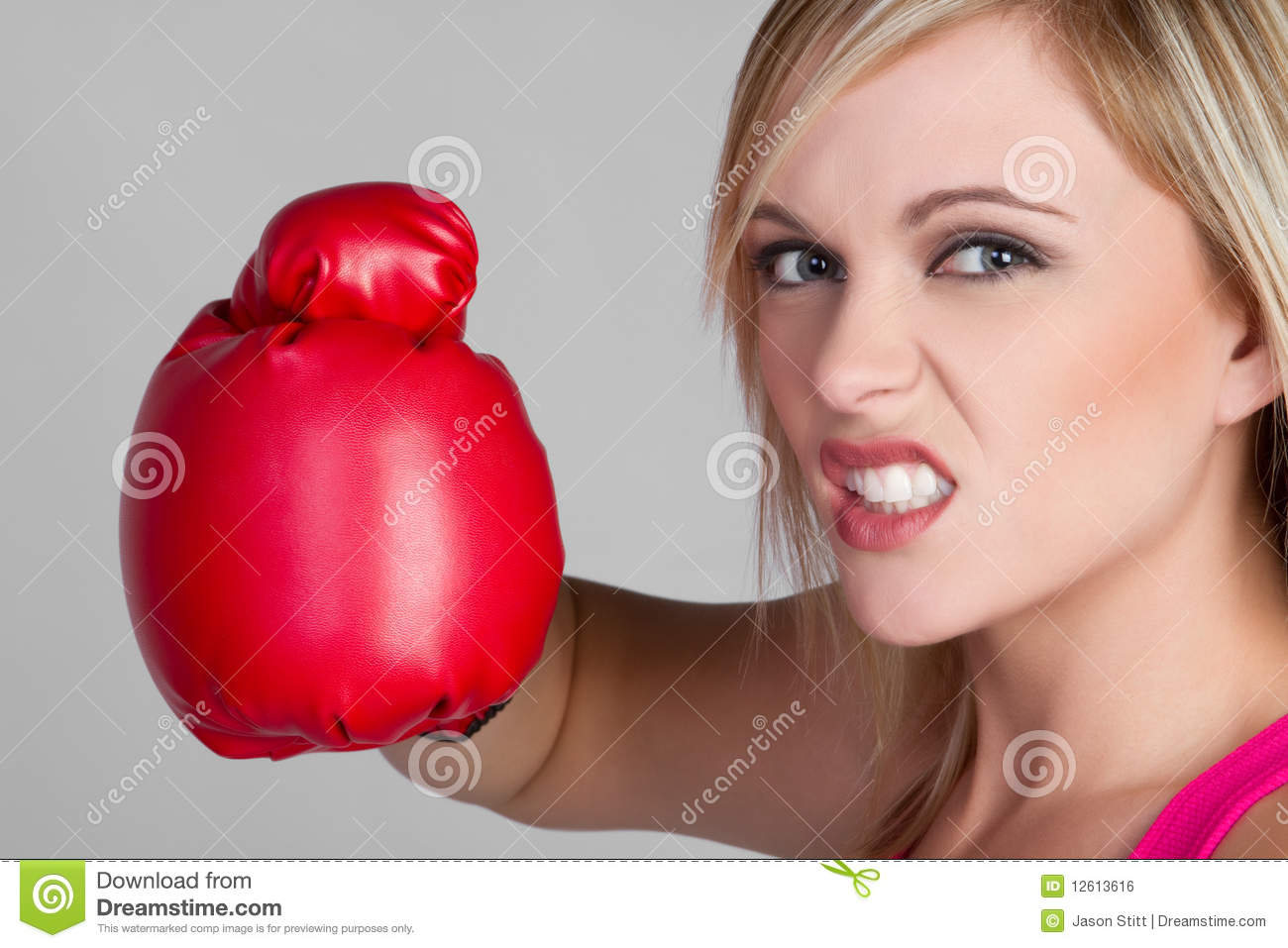 Female boxer gets mad and spank the reporters 9