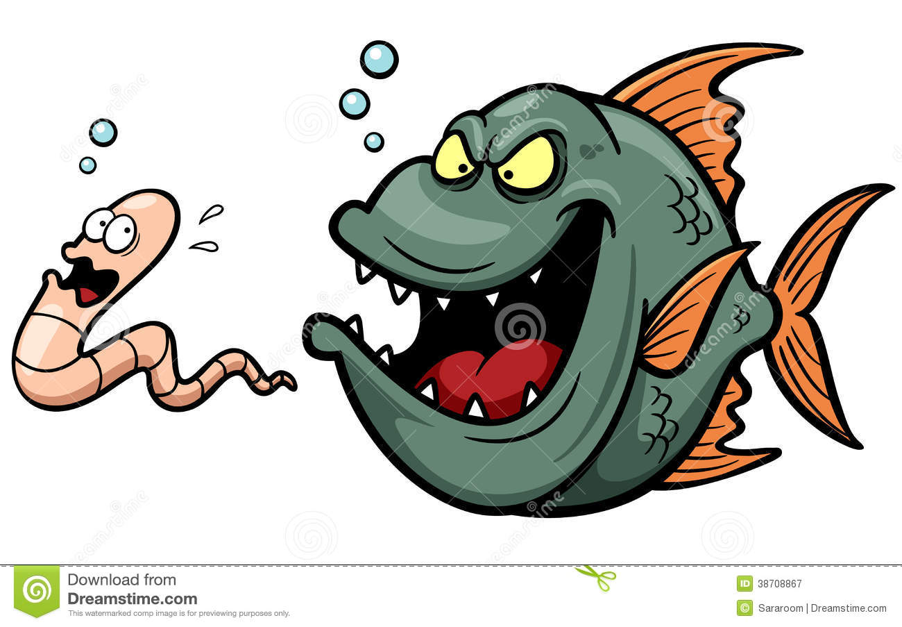 Angry Fish Hungry Cartoon Royalty Free Stock Photography - Image ...
