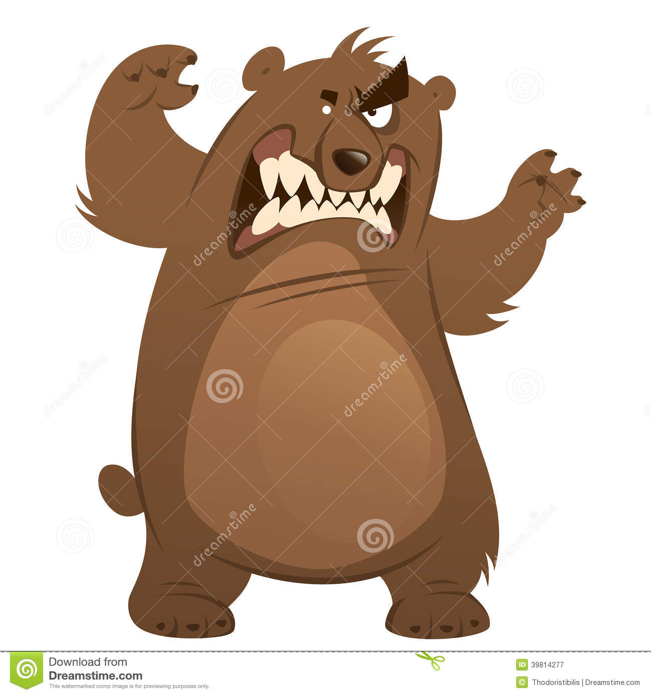 cartoon brown grizzly bear Grizzly Bear Standing Clip Art