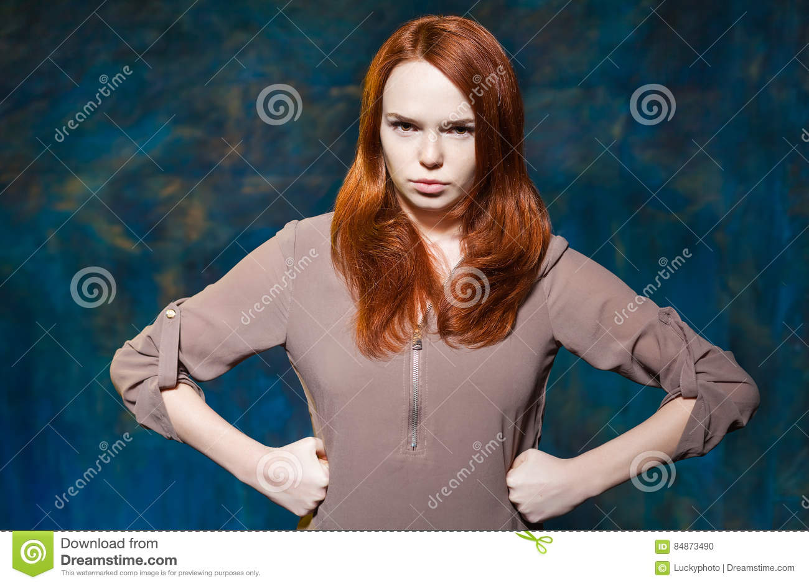 You Angry redhead girl