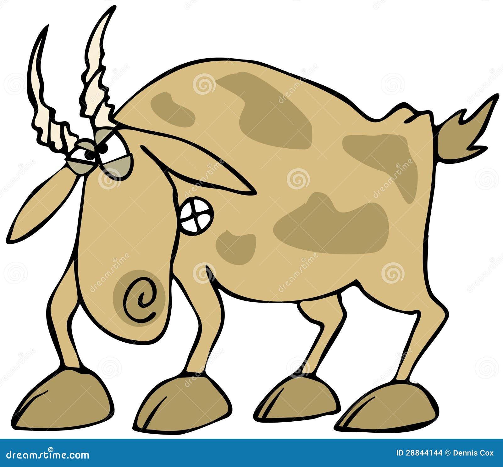 Angry Goat stock illustration. Image of animal, hoof ...