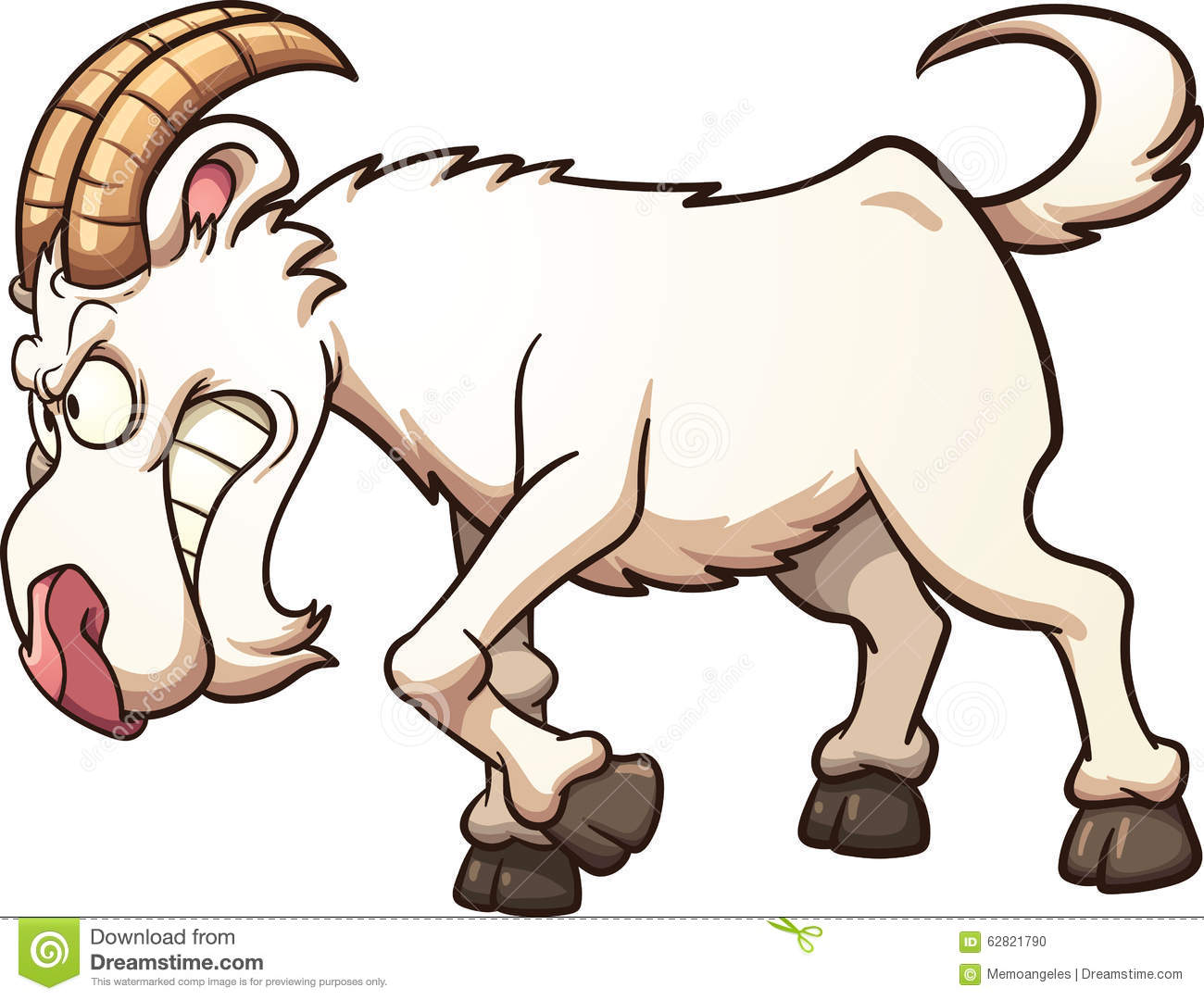 Angry goat stock vector. Illustration of cartoon ...