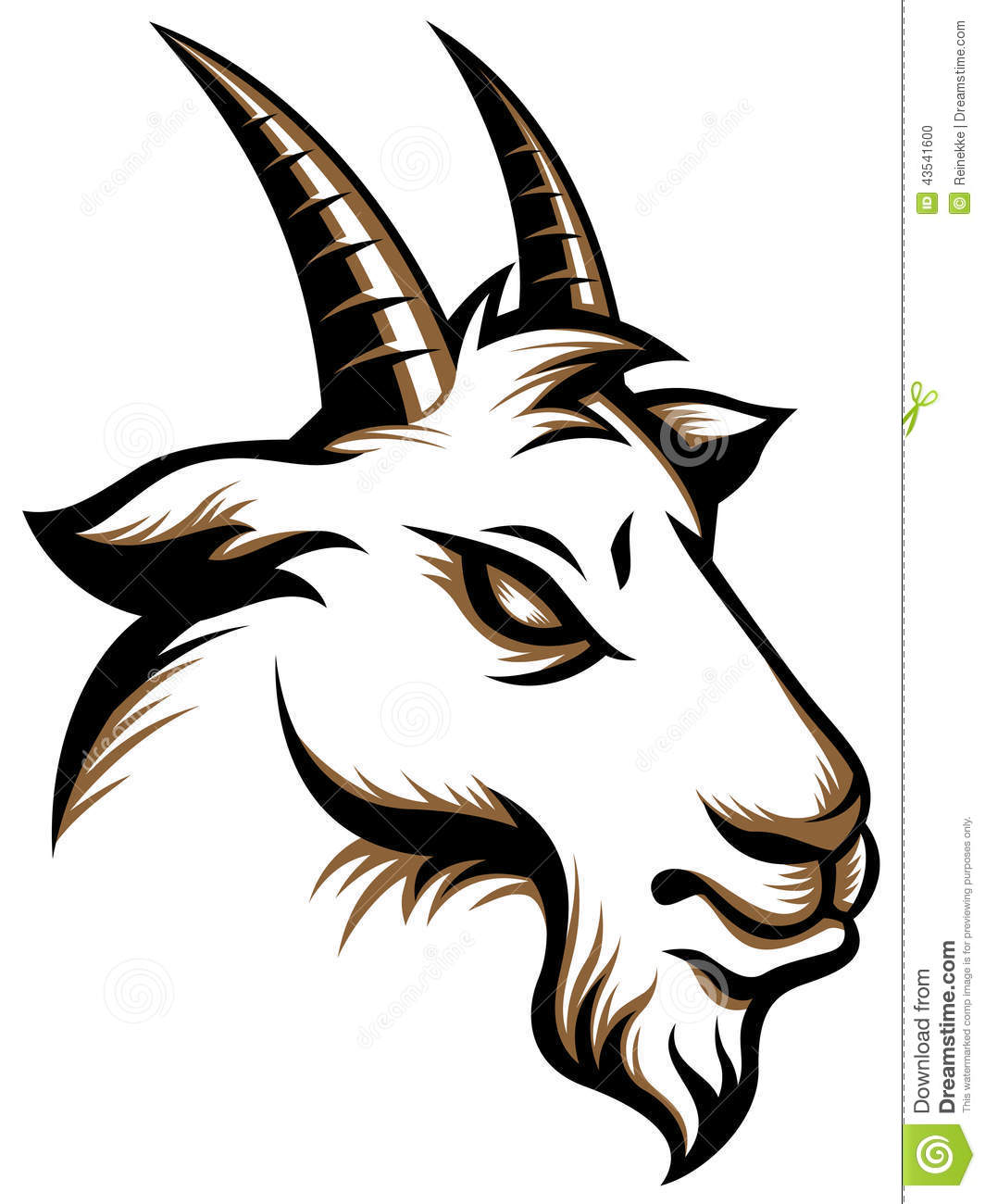 Angry Goat Stock Vector - Image: 43541600