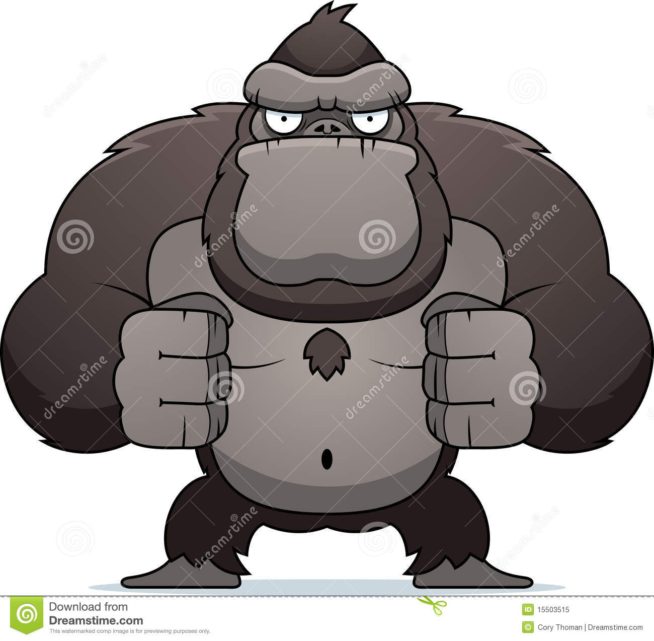 Angry Gorilla Royalty Free Stock Photo - Image: 15503515