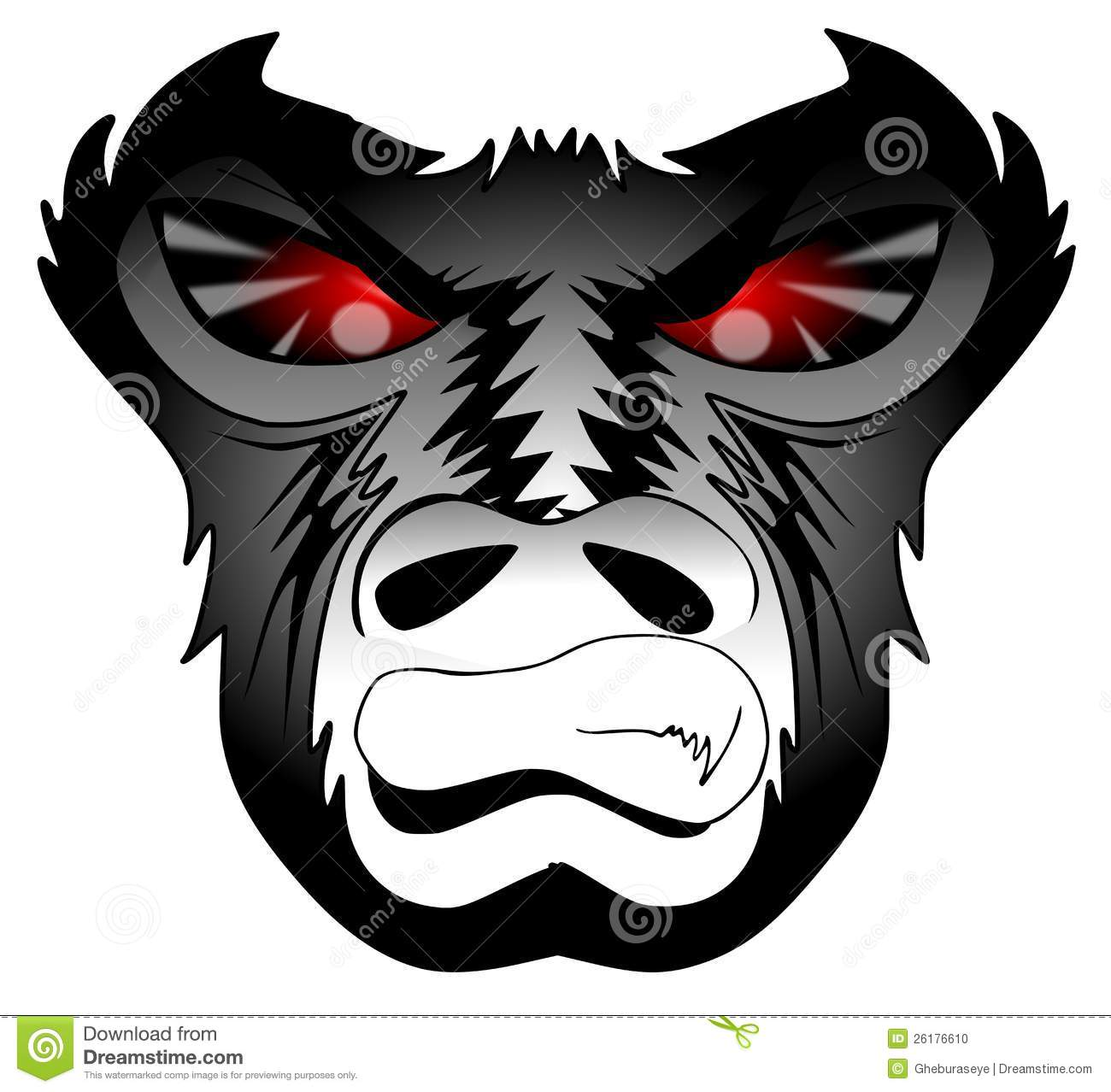 angry gorilla stock photo illustration of graphic angry