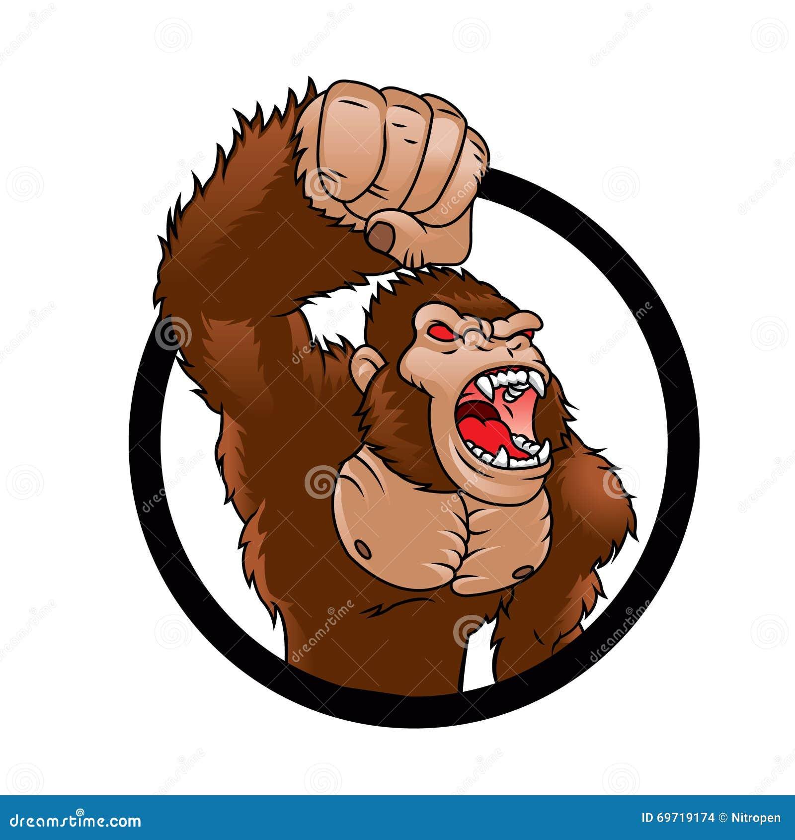 angry cartoon gorilla - photo #13