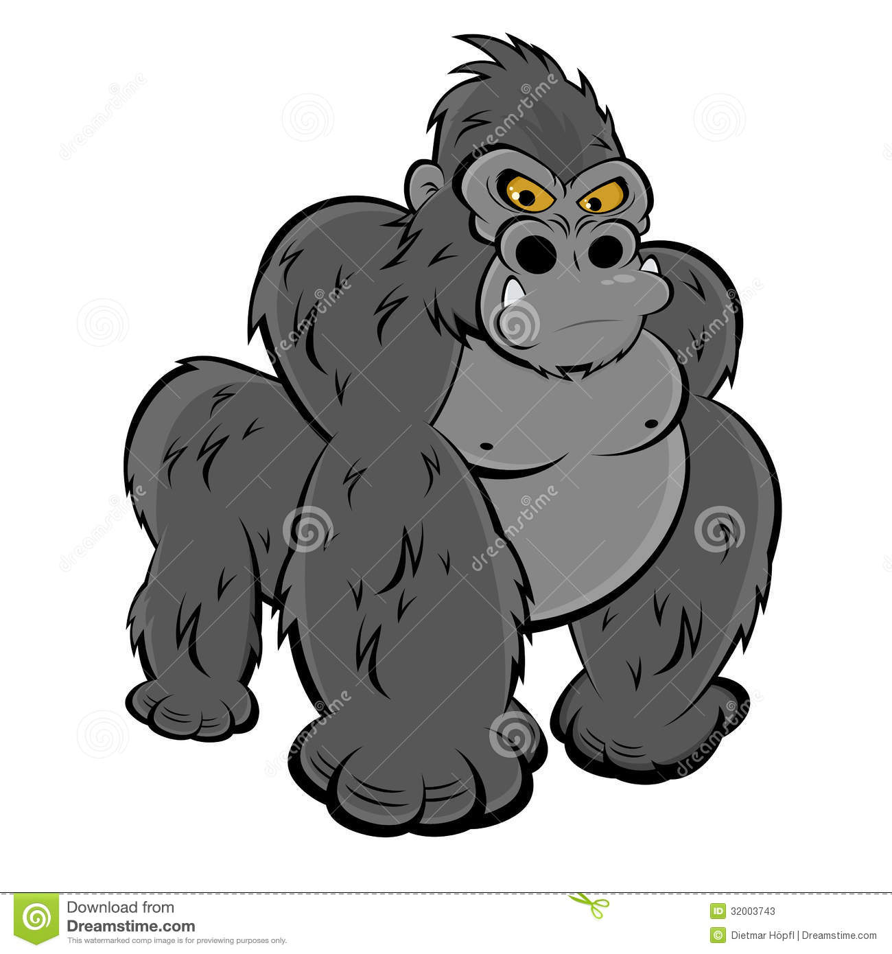Angry Gorilla Stock Photos - Image: 32003743