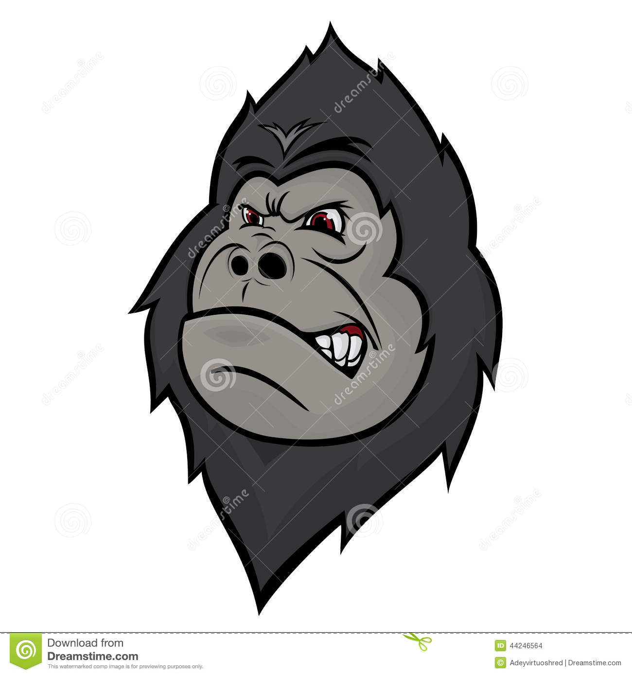 angry gorilla head drawing - photo #35