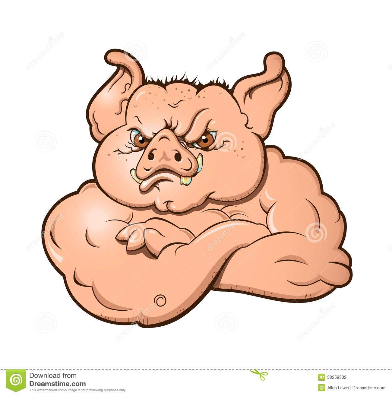 Angry Hog Stock Photography - Image: 38258332