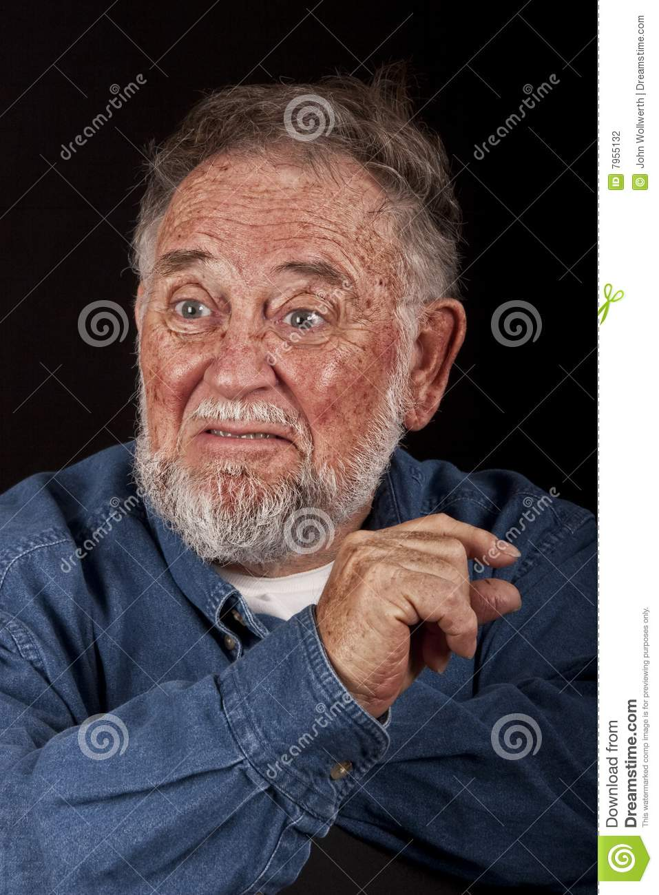 Angry impatient old man