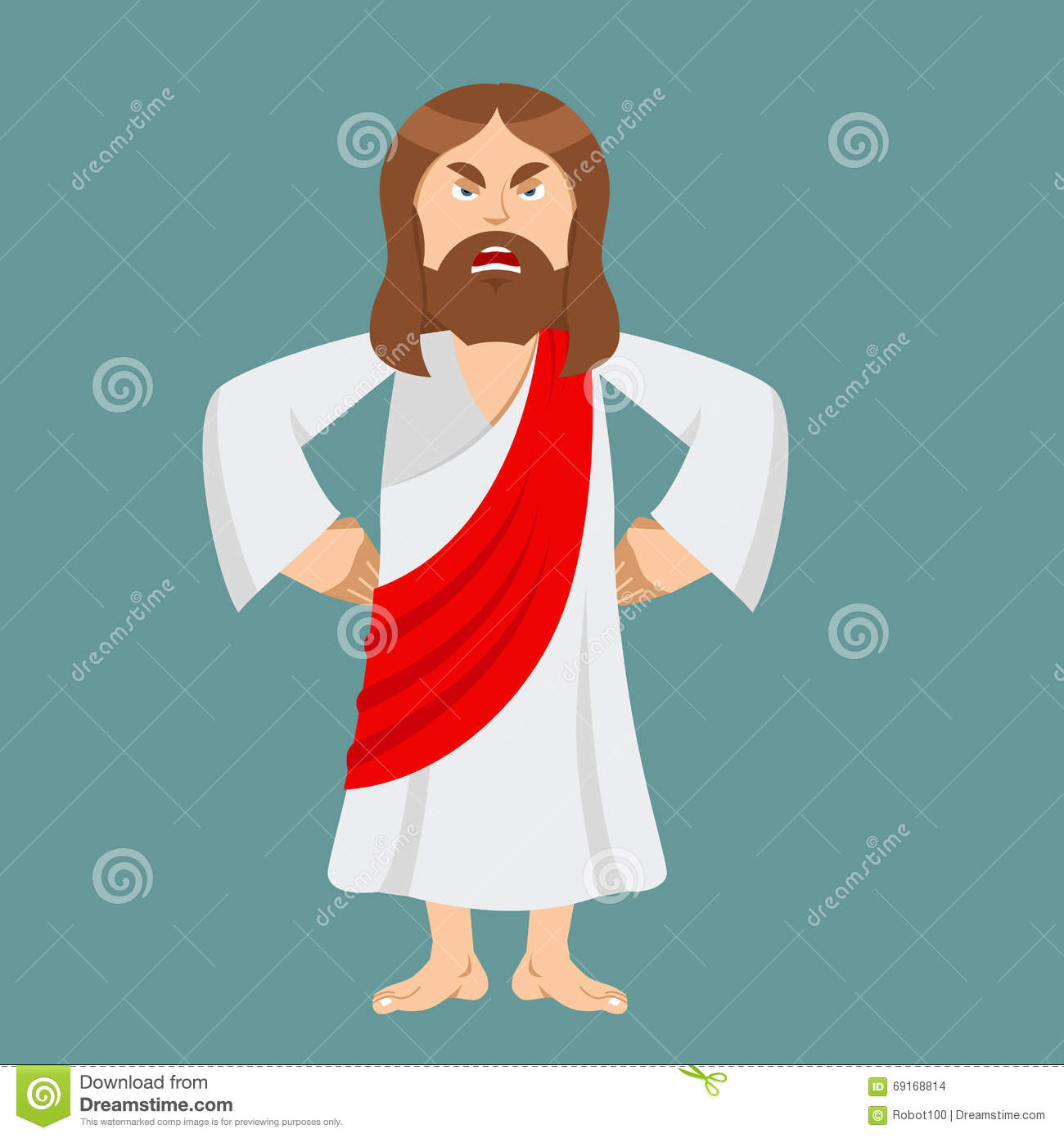 Angry Jesus. Jesus Is Not Satisfied. Angered By Jesus Christ. Go Stock ...