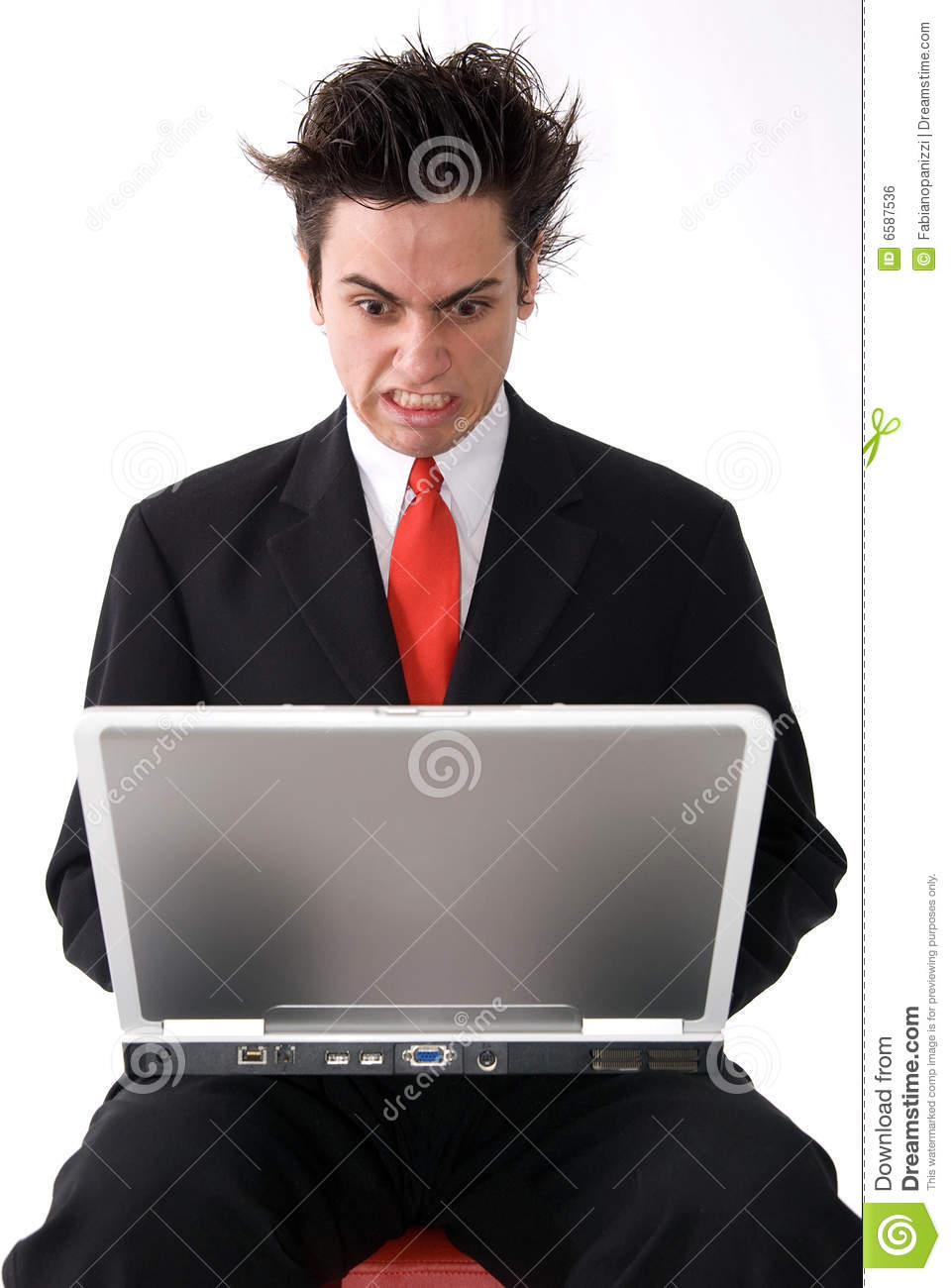 Angry Laptop Man