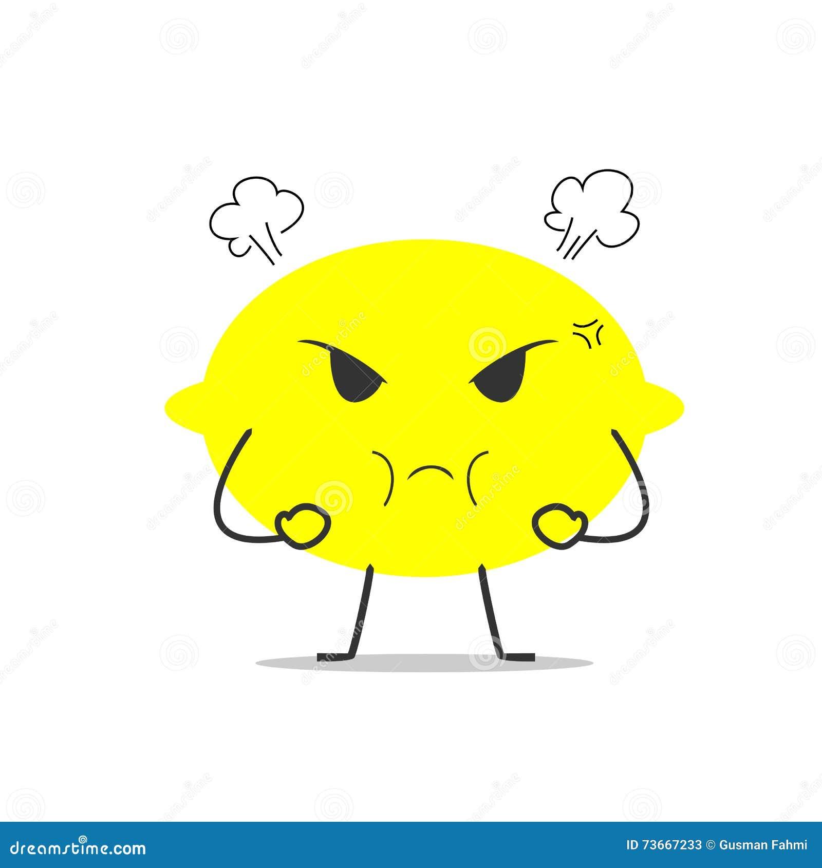 angry lemon simple clean cartoon illustration stock vector image angry lemon simple clean cartoon illustration