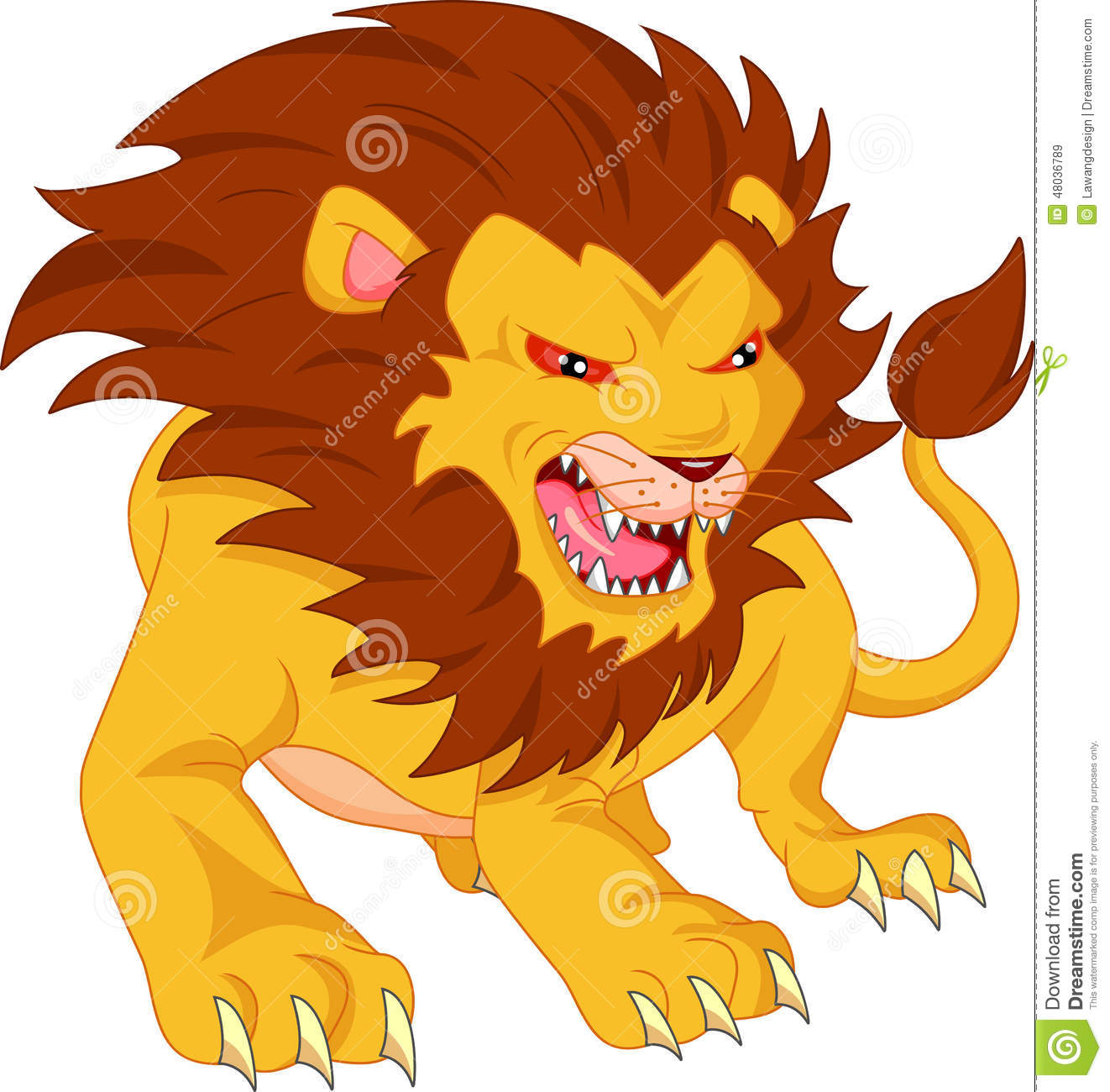 Angry lion cartoon stock vector. Illustration of cute - 48036789 for Angry Lion Animation  110ylc