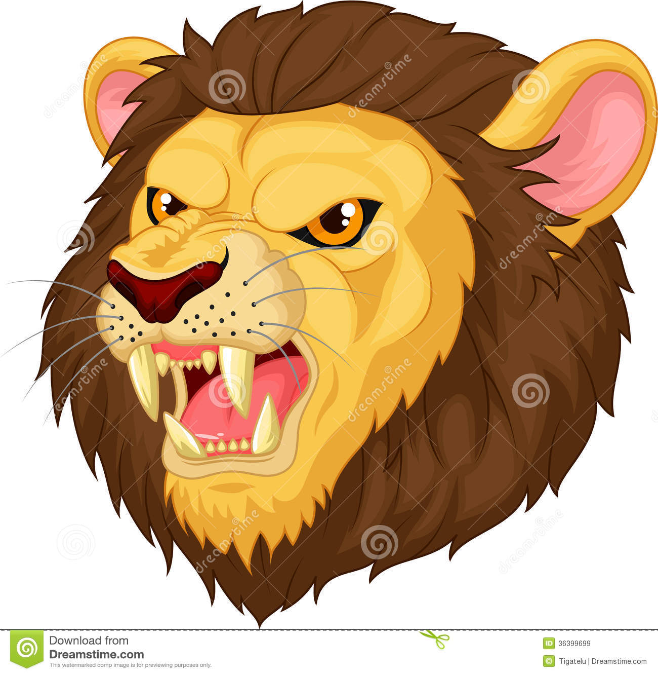 Angry Lion Head Mascot Cartoon Royalty Free Stock Images - Image ...