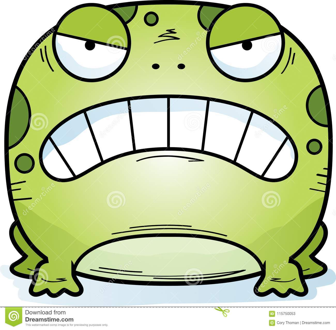 Angry Little Frog stock vector  Illustration of frog - 115750053