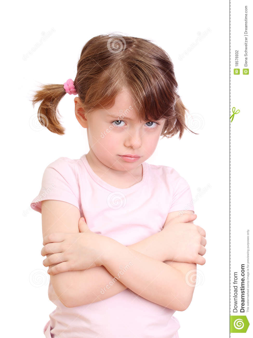 Angry Little Girl Stock Photography - Image: 18576932
