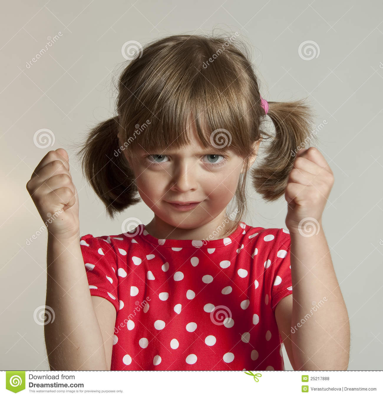 Angry Little Girl Royalty Free Stock Photos - Image: 25217888