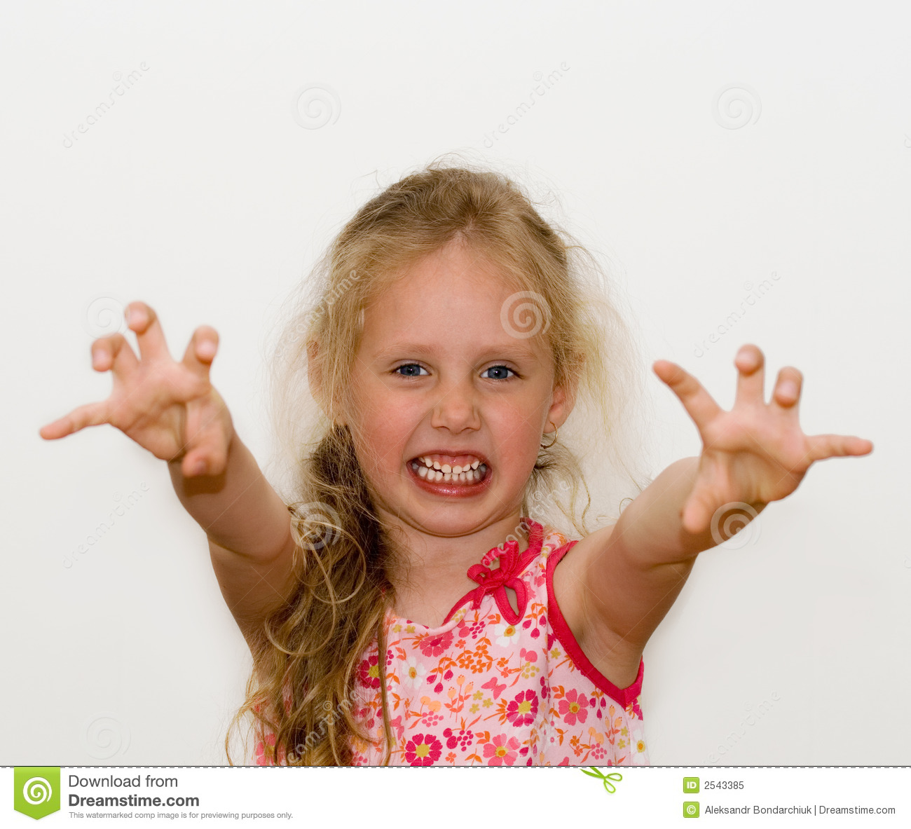 Angry Little Girl Royalty Free Stock Photo - Image: 2543385
