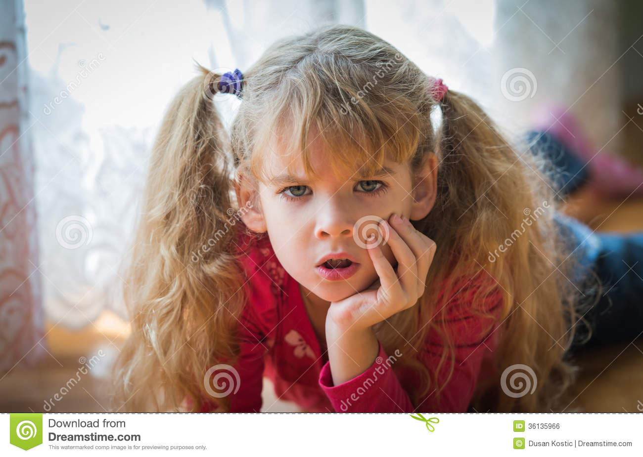 Angry Little Girl Royalty-Free Stock Image | CartoonDealer ...