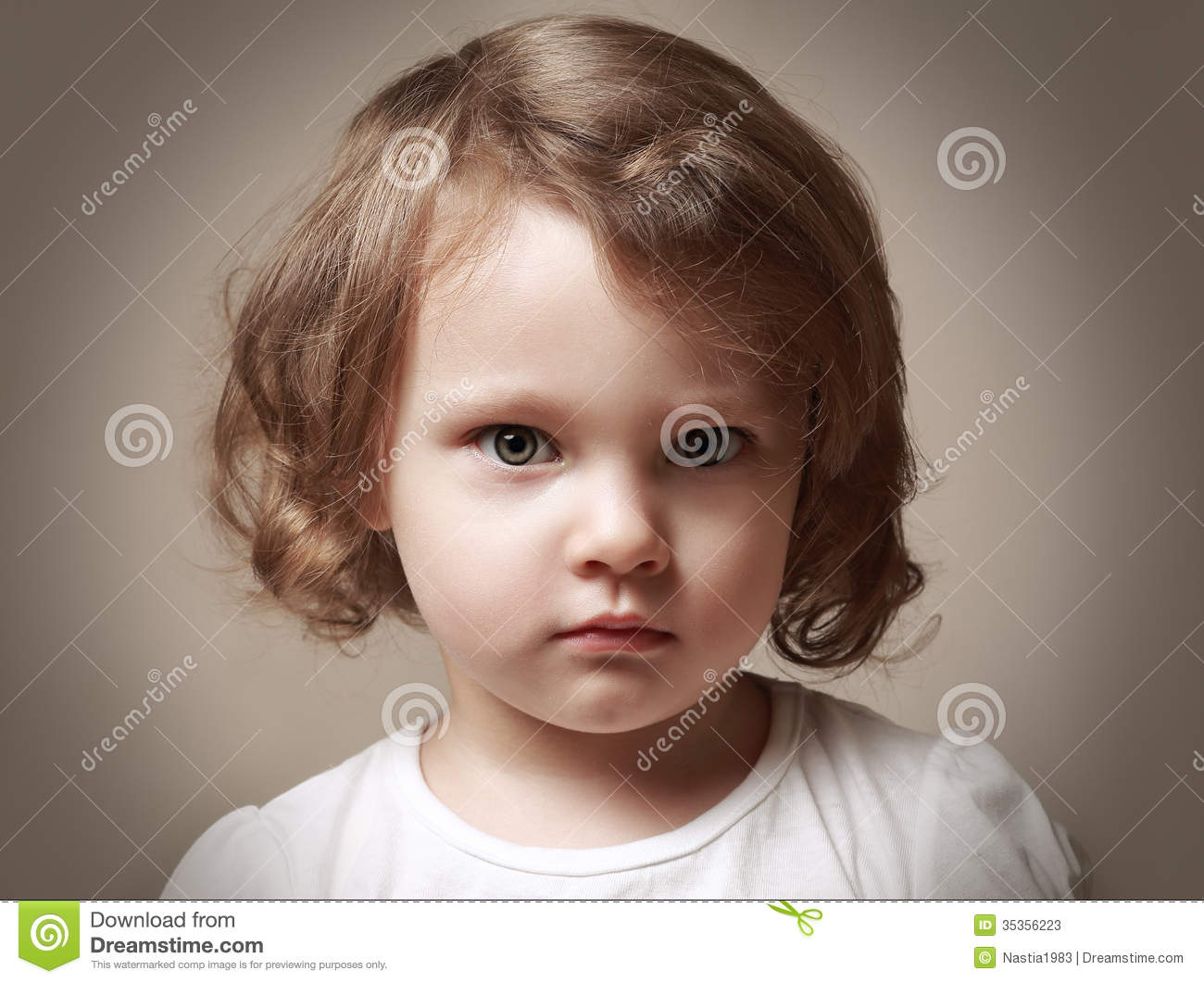52d58b69695 Angry Little Kid Girl Portrait Stock Image - Image of funny