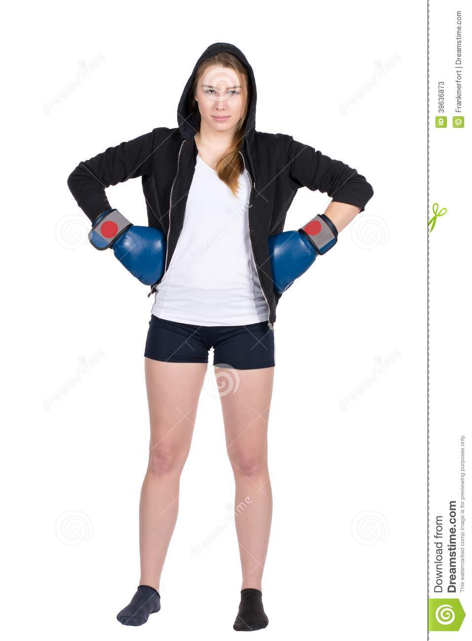 Female boxer gets mad and spank the reporters 3