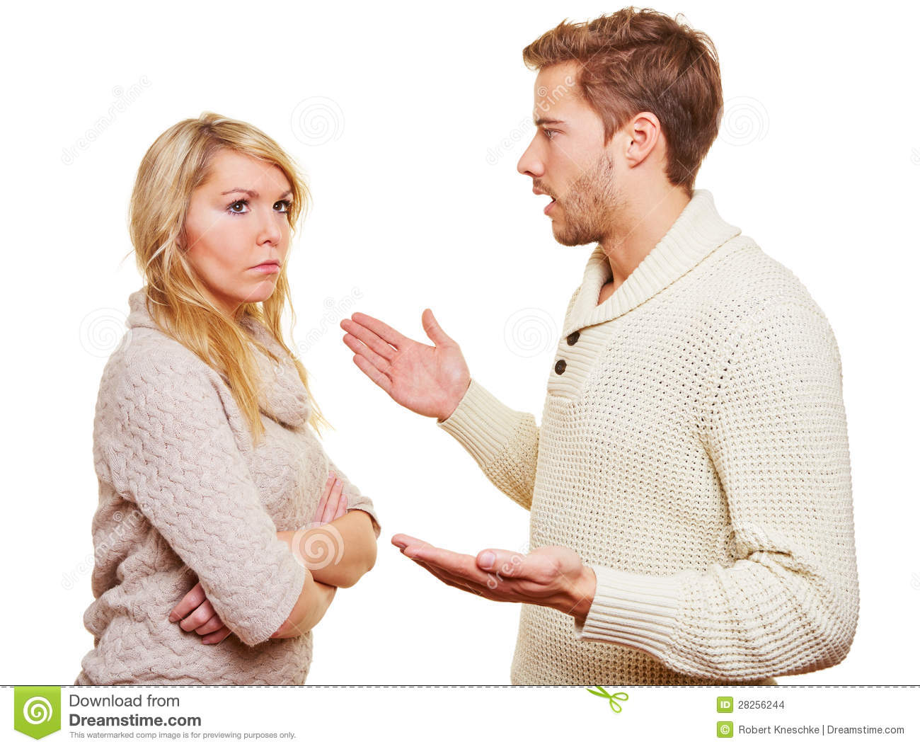 Angry Man Argueing With Woman Stock Images - Image: 28256244