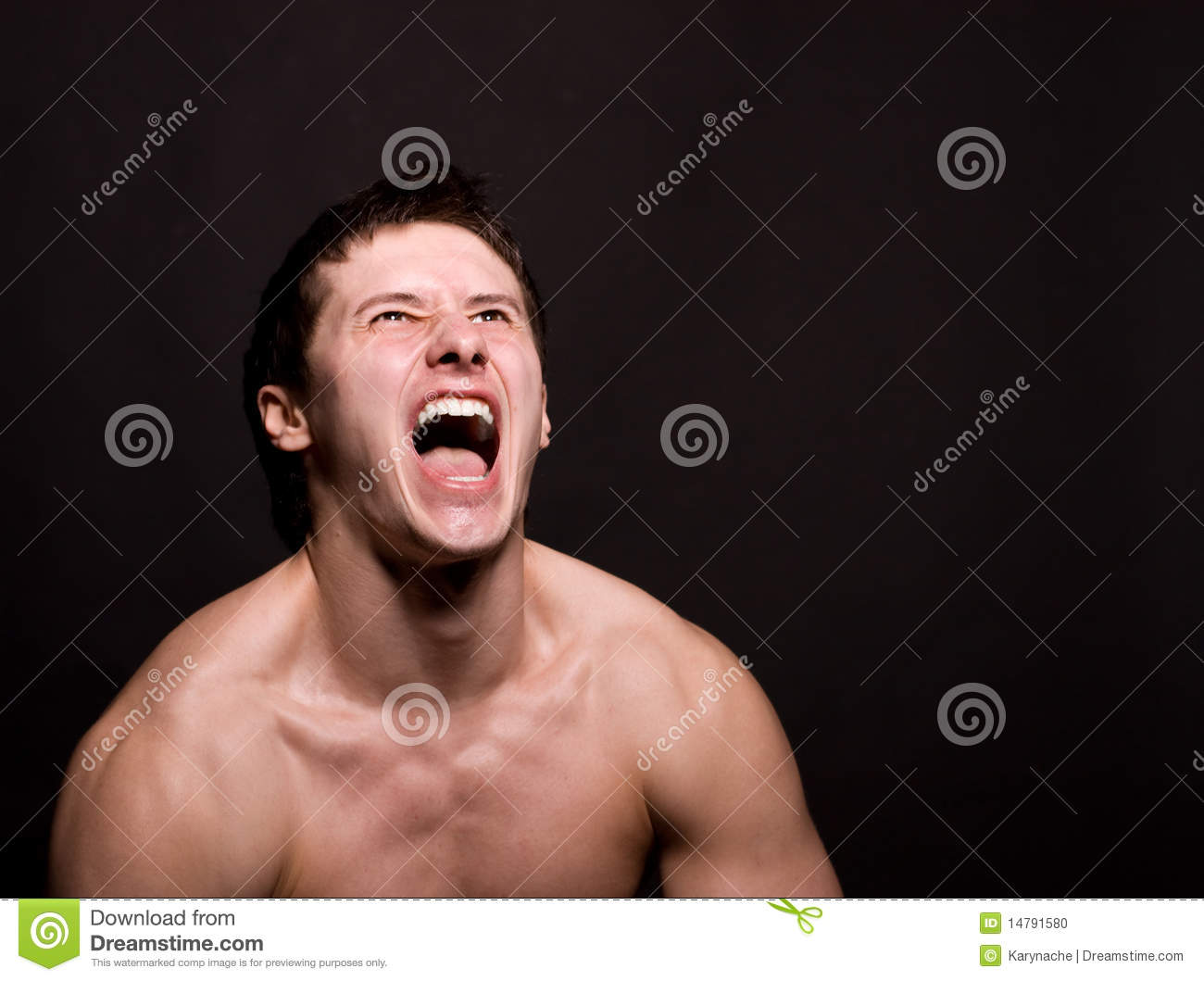 Angry Man Screaming In Extreme Rage Stock Photo - Image ...