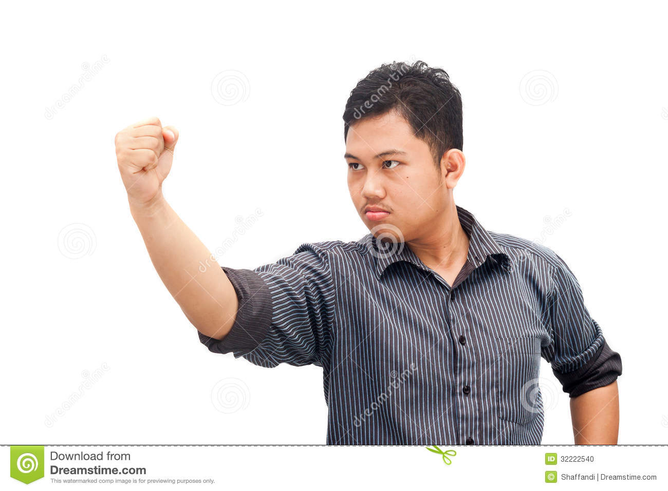 Angry Man Showing Fist Stock Photo Image 32222540