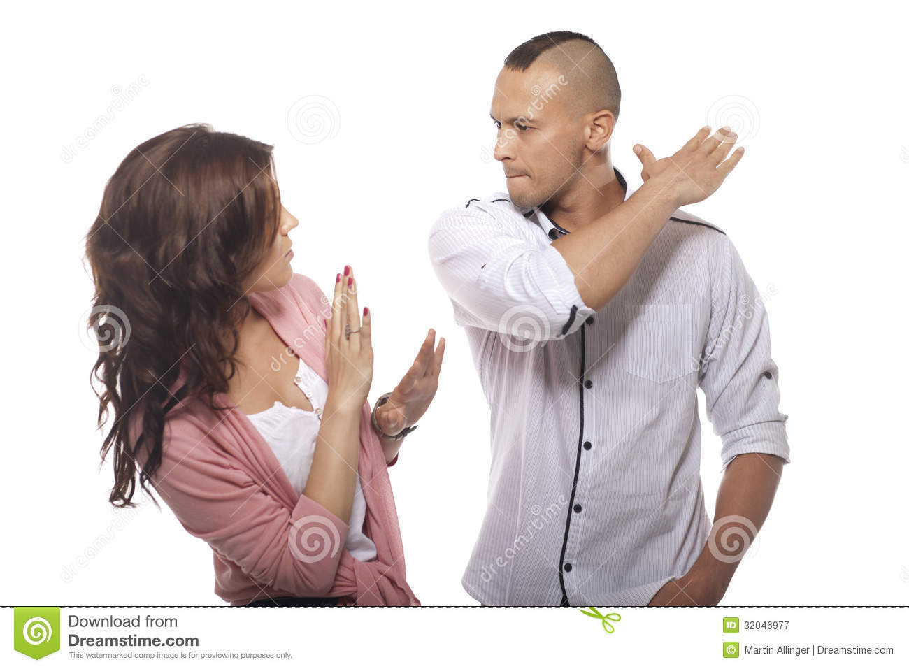 Angry Man Slapping Woman stock image. Image of husband ...