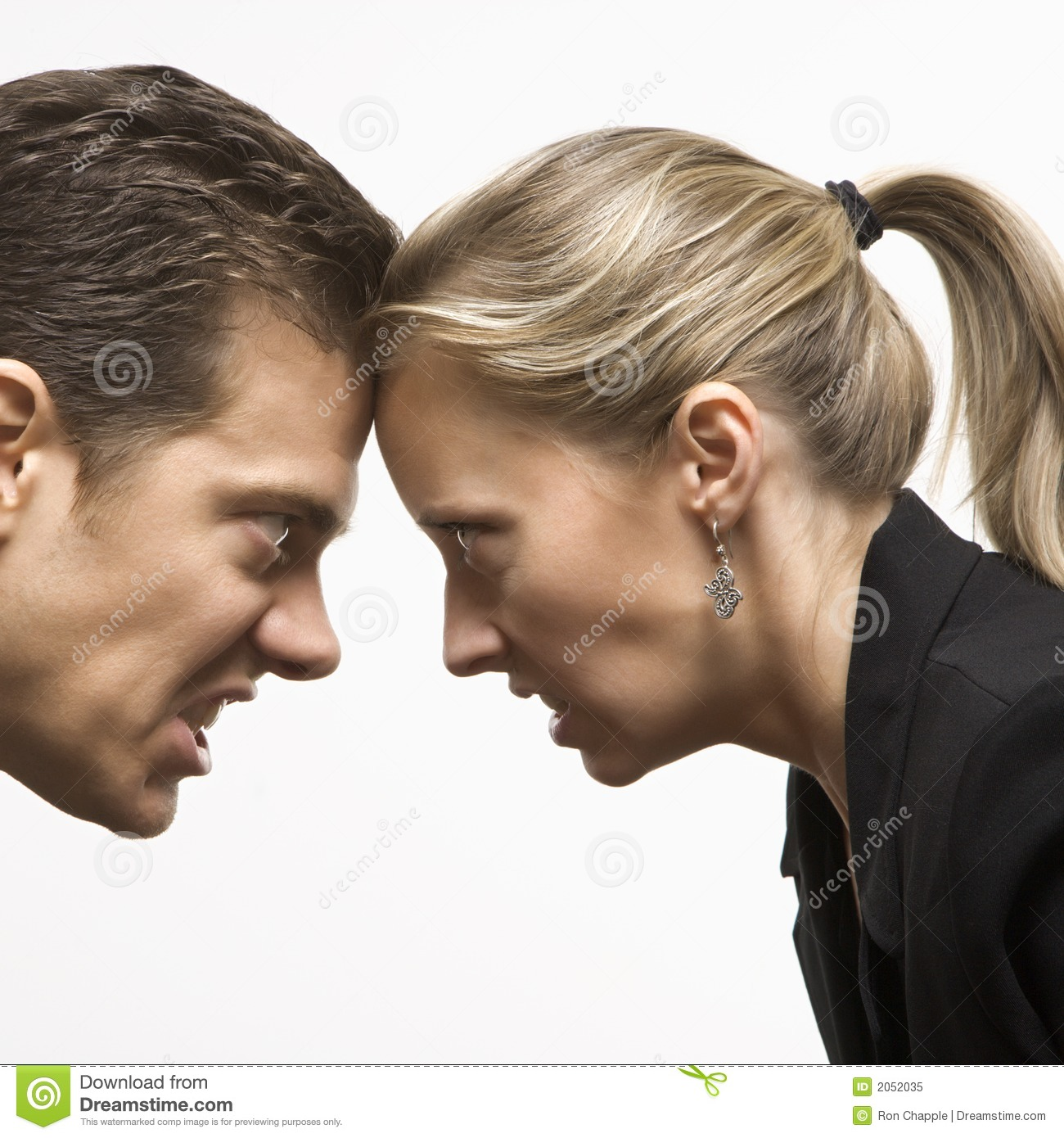 Angry Man And Woman Royalty Free Stock Photo - Image: 2052035