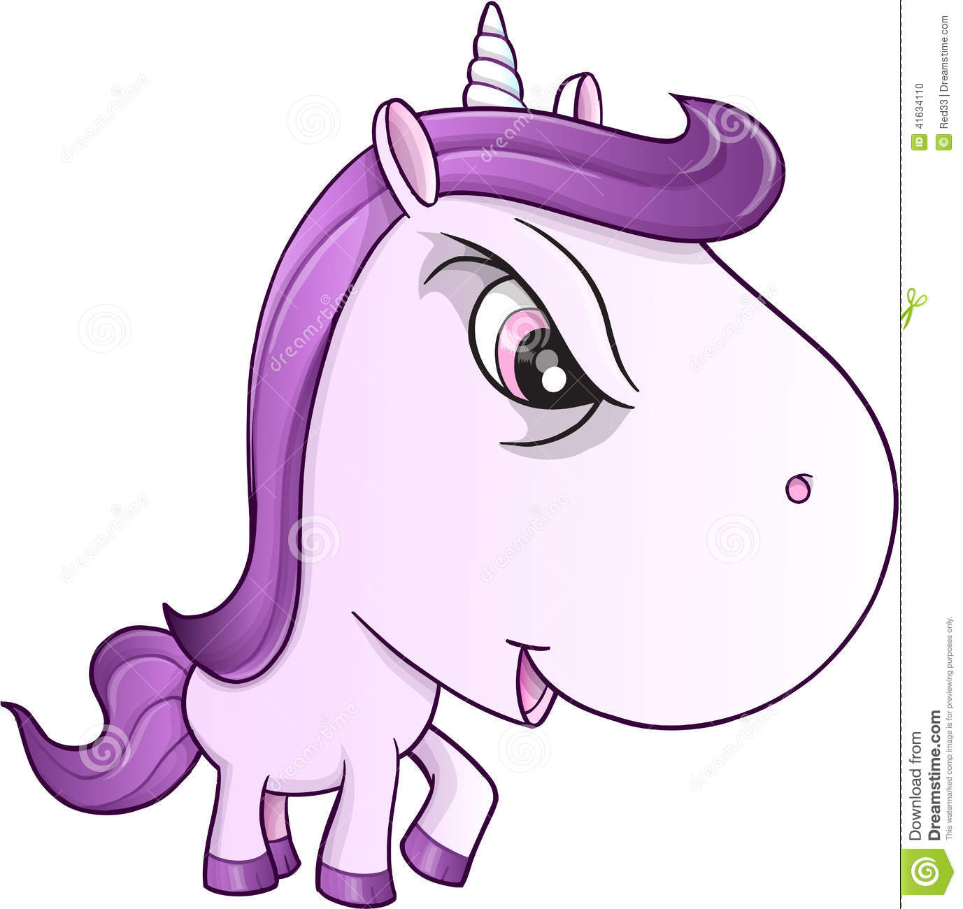 Angry Mean Unicorn Pony Vector Stock Vector - Image: 41634110