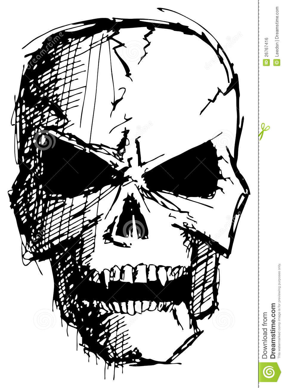 angry monster skull royalty free stock image