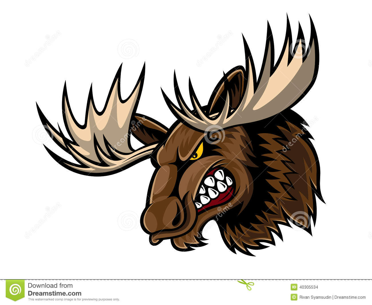 how to draw angry moose