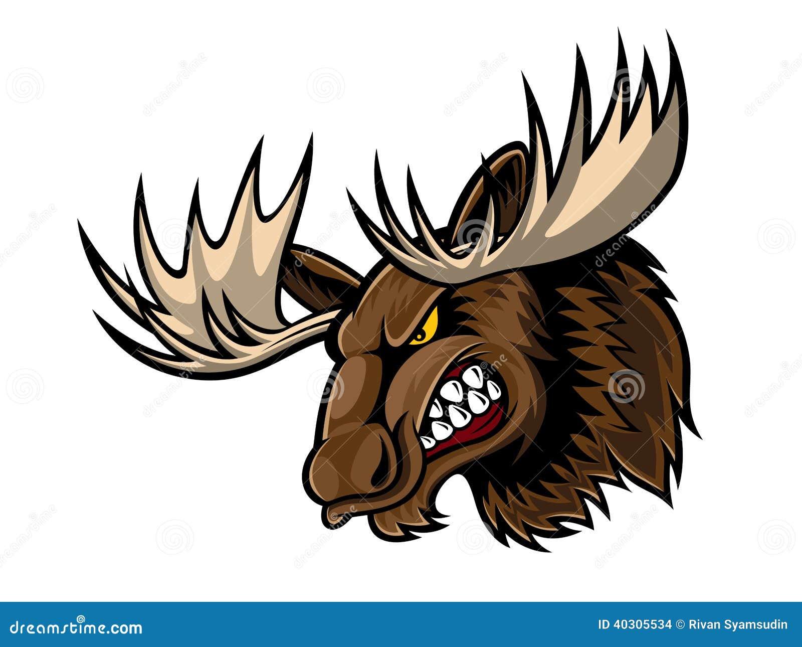 Moose face cartoon - photo#24