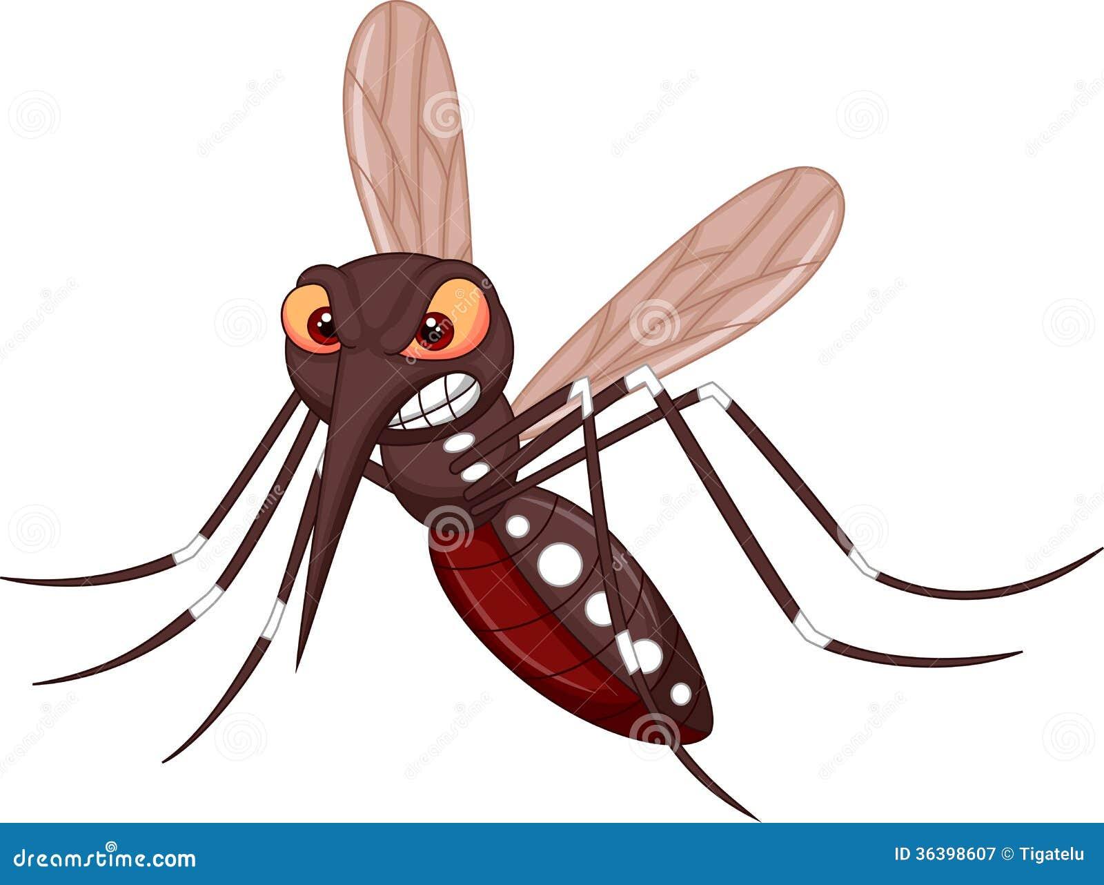 Cartoon sick mosquito vector illustration cartoondealer