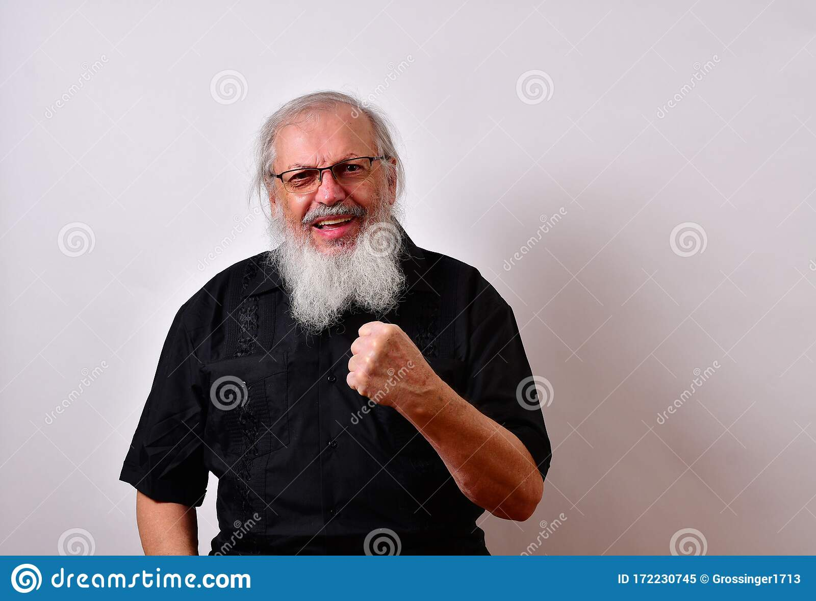 Angry Old Man Stock Image Image Of Negative Fist Mature 172230745