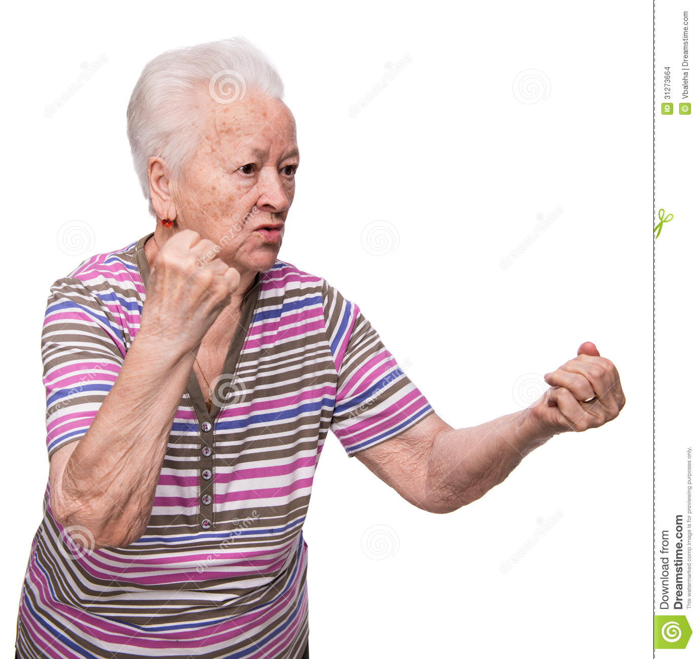 Angry Old Woman Making Fists Stock Images - Image: 31273664