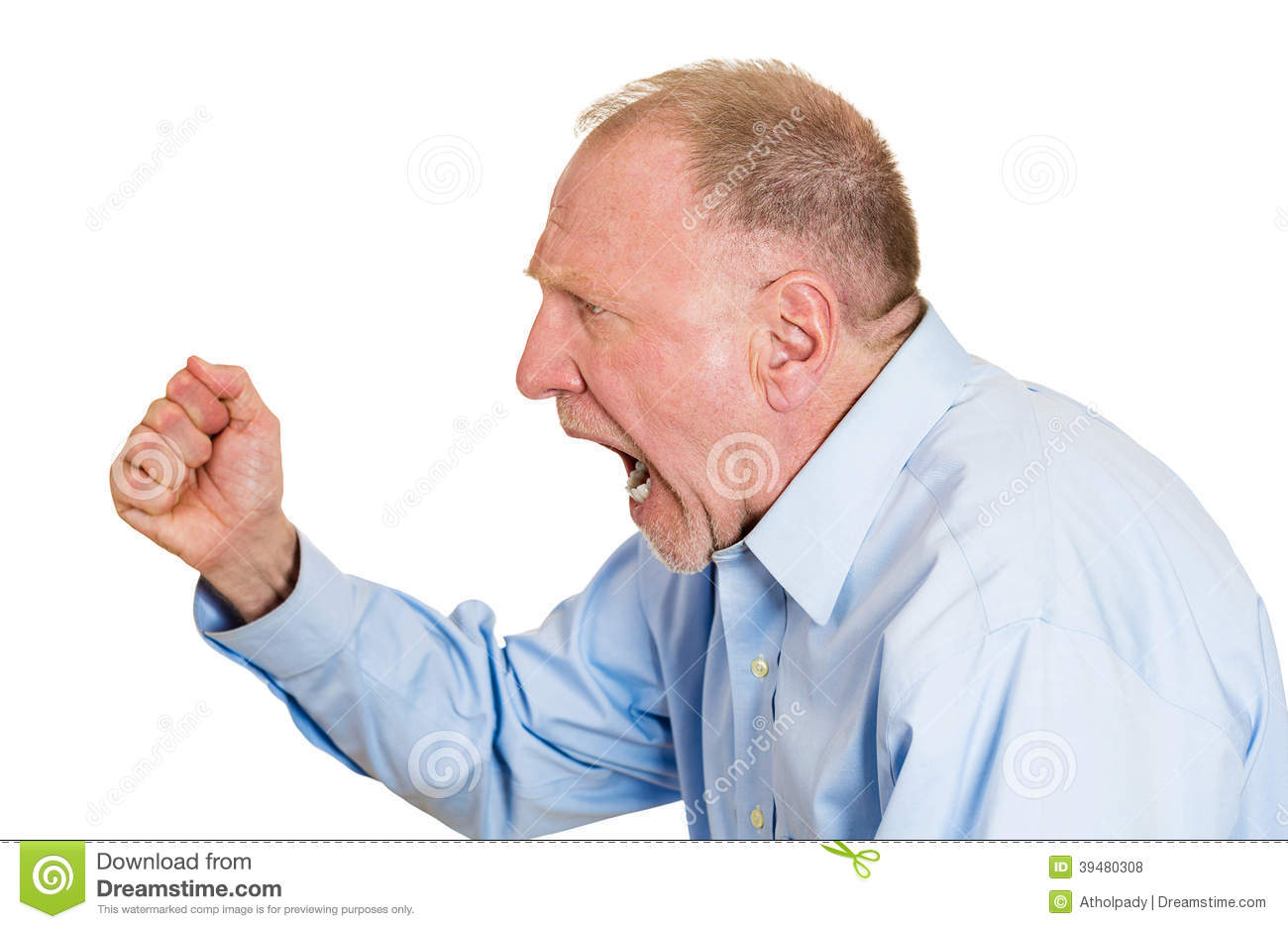 Angry Older Man Stock Photo - Image: 39480308