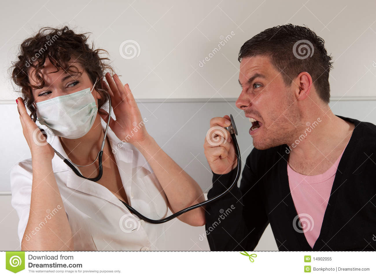 Angry Patient Royalty Free Stock Photo - Image: 14902055
